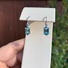 4.20ctw Blue Zircon Dangle Earrings 5