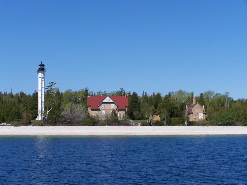 St. Martin Island, Michigan.  While technically not in Door County, St. Martin and Poverty Islands are part of the chain of islands between the tip of the Door peninsula and Michigan's Garden peninsula. Located just to the north of Washington Island, it is only 18 miles from Gills Rock and is included on one of the Lighthouse Cruises in May. I was particularly interested in seeing this island because my Great-great grandfather grew up here after his father was killed during the Civil War.