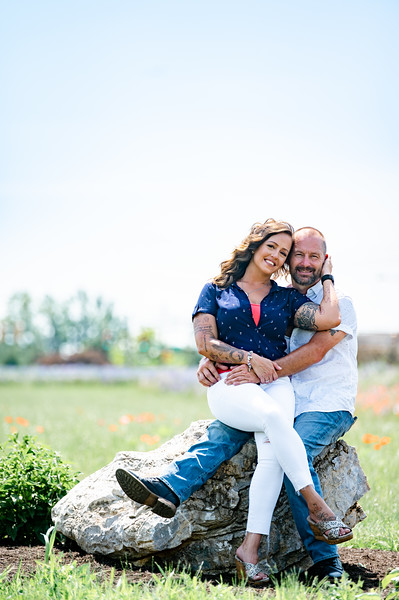 Heather and Rodney Engagement Session - flower field in Lititz PA