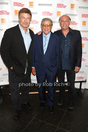 "Alec Baldwin, Tony Bennett, and  Danny Bennett attend The HIFF Summerdoc screening of ""The Zen of Bennett""  at Guild Hall iin East Hampton. (August 13, 2012)