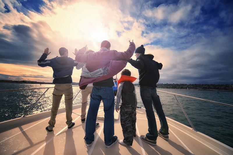 My nephews posing on the boat in San Diego. Frankiefoto