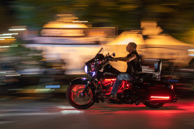 Motorcycle Panning at Bikes, Blues & BBQ