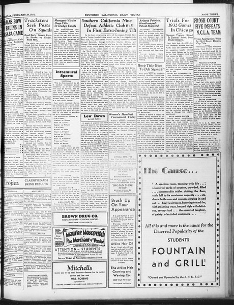 Daily Trojan, Vol. 22, No. 93, February 24, 1931
