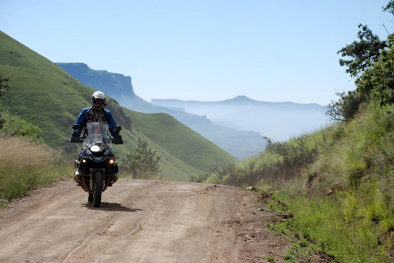 More beautiful R1200GS African Scenery by Gillian Hine.... After a rest day it was time to tackle the famous Sani Pass. Famous for the incredible vistas... GS Adventures motorcycle tours's - http://www.facebook.com/GSbike