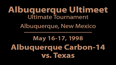 1998 Ultimeet - ABQ vs. Texas