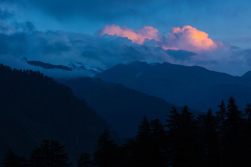 Sunset in Himalayas