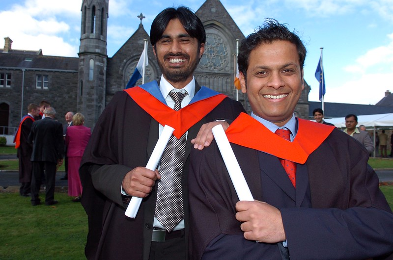 Provision 261006 Amir Khattak and Prateek from Waterford both graduated with a Higher Certificate in Science in Computer Applications from WIT yesterday (Weds). PIC Bernie Keating/Provision