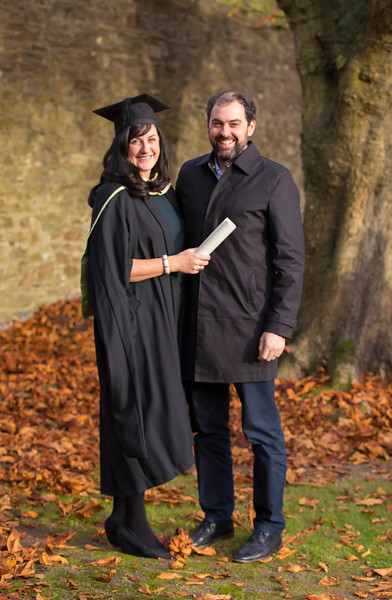 02/11/2016. Waterford Institute of Technology (WIT) Conferring Ceremonies November 2016. Pictured is Amy Hickey from New Ross who graduated with an MA in Management in Education, also pictured is her husband Rory Hussey. Picture: Patrick Browne