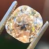 4.03ct Light Fancy Brown Antique Cushion Cut Diamond Halo Ring GIA LFB, SI1 80