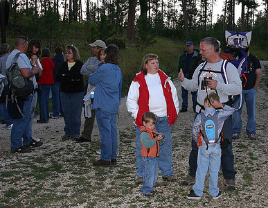 As always, hikers of all ages were in the contingent trekking to Deerfield Reservoir.  It's good to see young and old alike participate in this fun family experience.