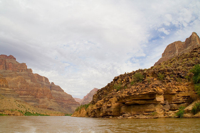 We took a boat ride on the Colorado river.