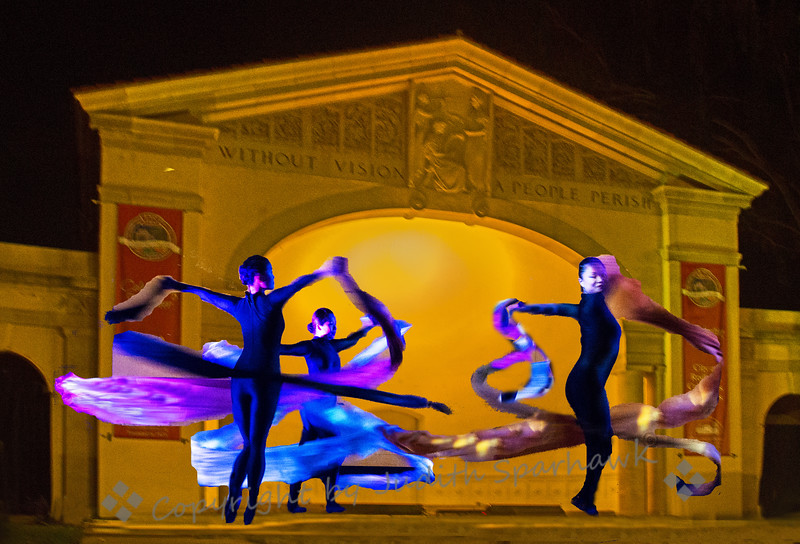 Silk Cascade Dance ~ One of the dances performed by the Lily Cai Chinese Dance Company at the Redlands Bowl Summer Music Program, July 13, 2013.