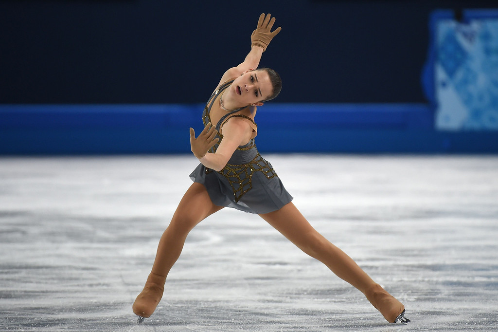 . Russia\'s Adelina Sotnikova performs in the Women\'s Figure Skating Free Program at the Iceberg Skating Palace during the Sochi Winter Olympics on February 20, 2014. DAMIEN MEYER/AFP/Getty Images
