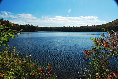Waichipauca Pond fall colors