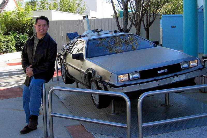 Back to the Future deLorean at Universal Studios.