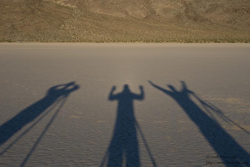 Shadows - Racetrack Playa - Death Valley National Park, CA, USA