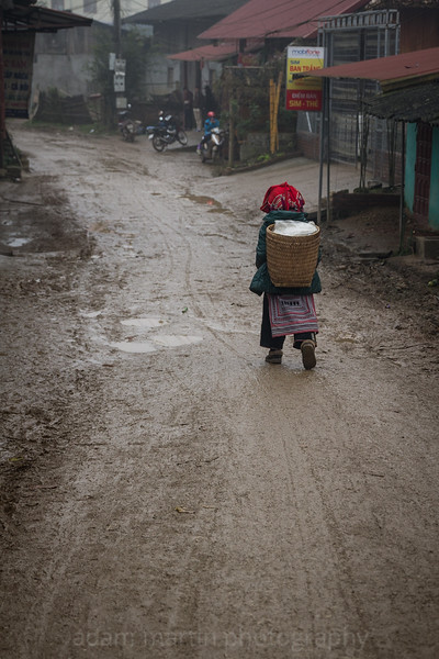 A Lonely Walk Home, Ta Phin, North Vietnam