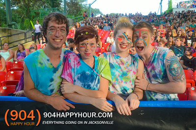 FANS -  Panic! At The Disco, WALK THE MOON and Youngblood Hawke @ The St Augustine Ampitheatre - 8.16.14
