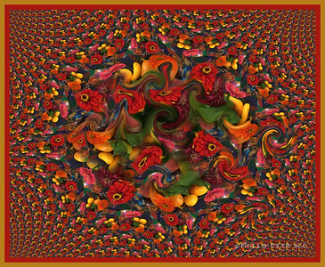 DIGITAL-CREATIVE-ADVANCED-GOLD-TWISTED FLOWERS-KATHY VITALE