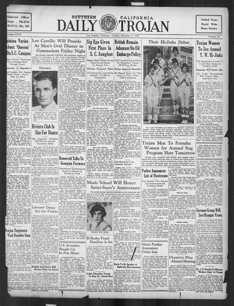 Daily Trojan, Vol. 27, No. 49, December 03, 1935