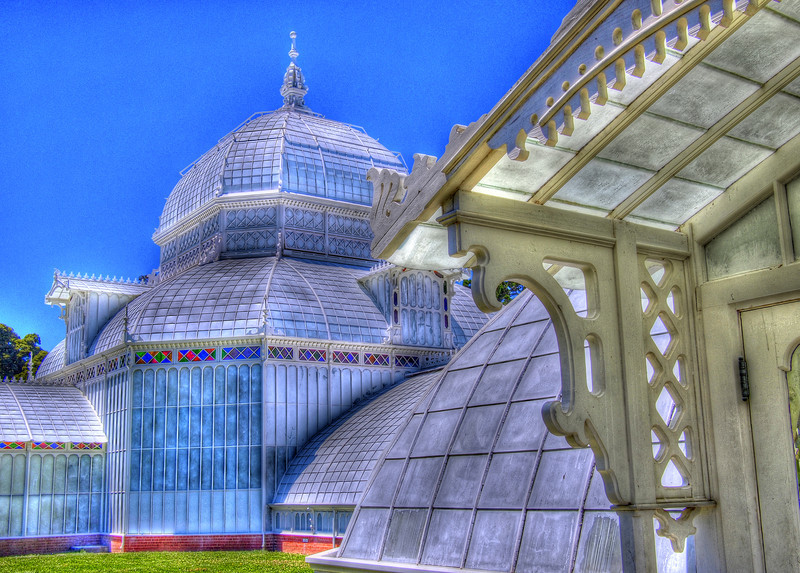 The Conservatory of Flowers in Golden Gate Park. This is an HDR image taken a little over the top. I have a normal view later on in the gallery (as well as a B&W version of this one, which might be my favorite).