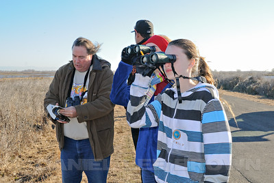 The Sacramento Audubon Society's 1st annual Kids Christmas Bird Count, held at the Cosumnes River Preserve, Sacramento Co, Ca, 1-7-12