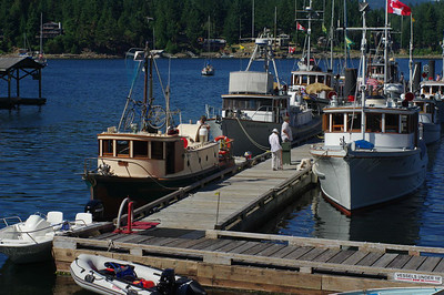 Forestry Boats, Pender Harbour, August 2014