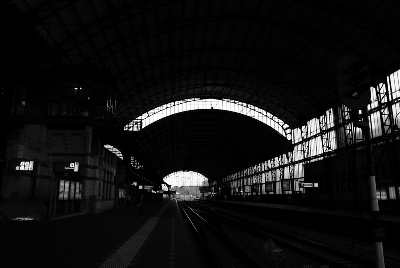 The Haarlem train station.
