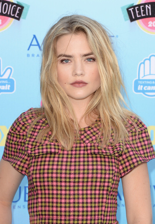 . Actress Maddie Hasson attends the Teen Choice Awards 2013 at Gibson Amphitheatre on August 11, 2013 in Universal City, California.  (Photo by Jason Merritt/Getty Images)