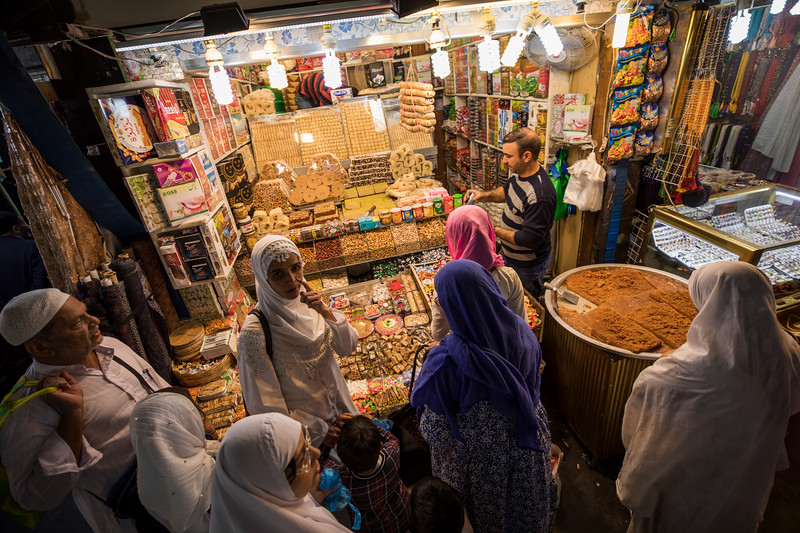 Biscuits and sweets for sale in Najaf souq.