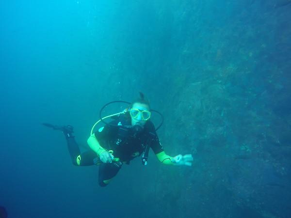 Diving Kicker Rock