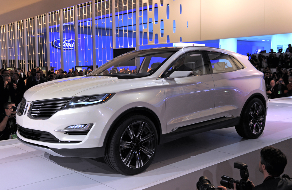 . The Lincoln MK C Concept cross-over SUV is introduced at the 2013 North American International Auto Show in Detroit, Michigan, January 14, 2013. AFP PHOTO/Stan HONDASTAN HONDA/AFP/Getty Images