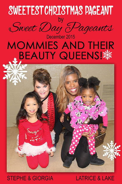 2015 12 06 Christmas Pageant 05 Stephe & Latrice & Beauty Queens