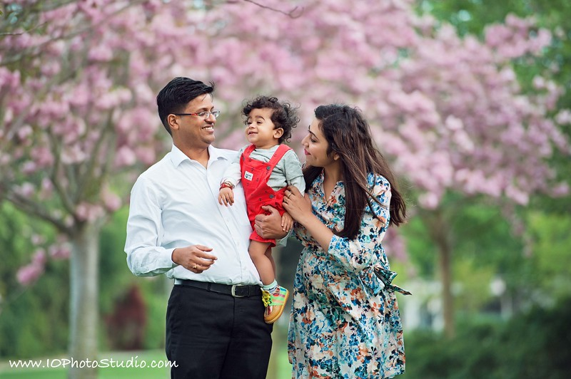 Cherry Blossoms Spring Family Session