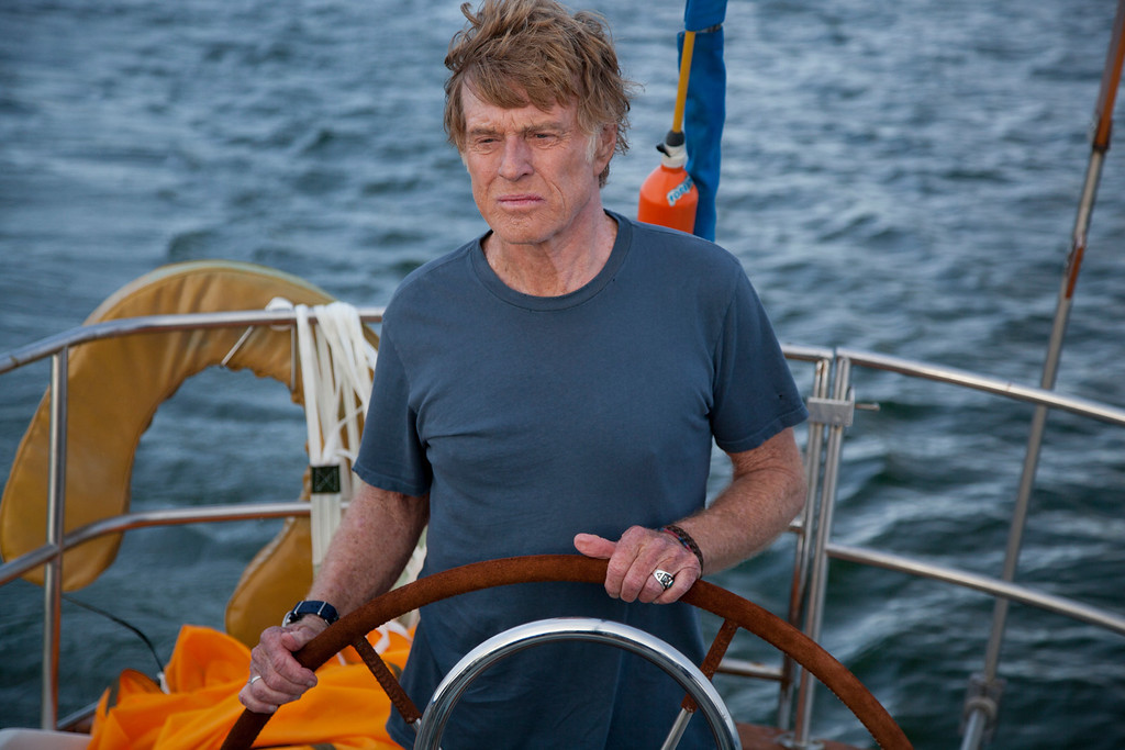 ". Robert Redford at the helm of the spare yet epic adventure ""All Is Lost,\"" directed by J.C. Chador. Photo Daniel Daza, Provided by Telluride Film Festival"