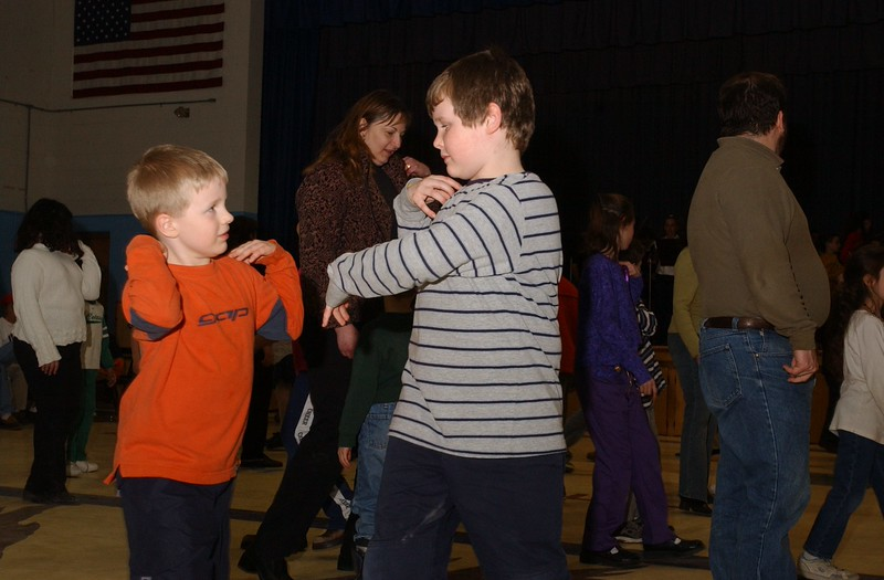 3/23/05 Russ Dillingham photos Lewiston Elementary Schools annual strings concert and contradance at Montello School