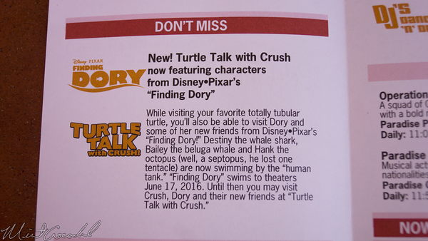 Disneyland Resort, Disney California Adventure, Hollywood, Land, Animation, Building, Finding, Dory, Turtle, Talk, Crush