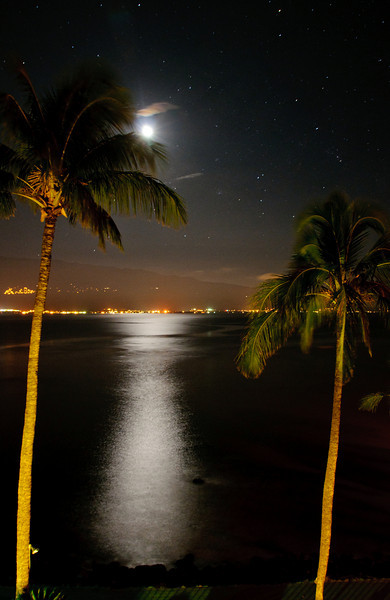 Moonlit Bay.  Maelea - Maui, Hi.