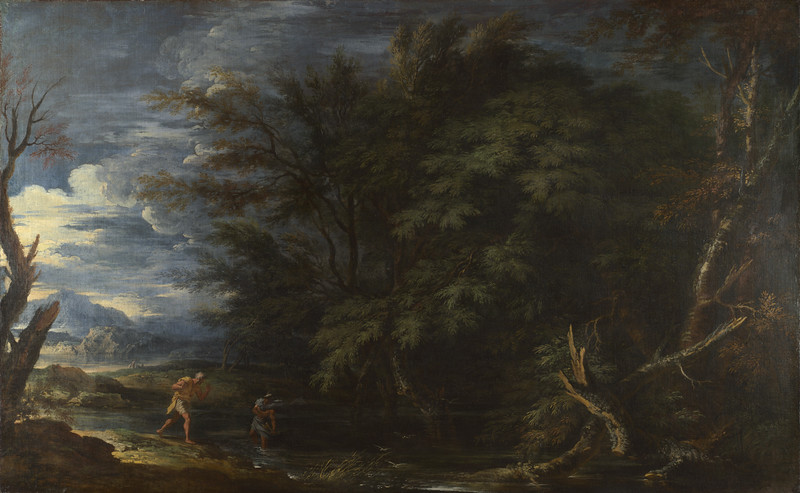 Landscape with Mercury and the Dishonest Woodman