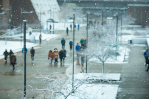 190390 North Campus, Snow, Exteriors