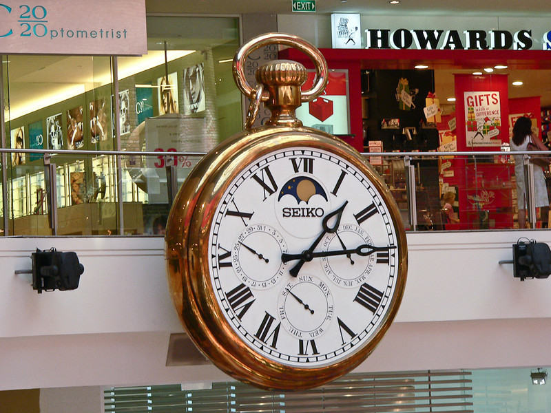 Seiko has this fine timepiece in a local shopping mall.