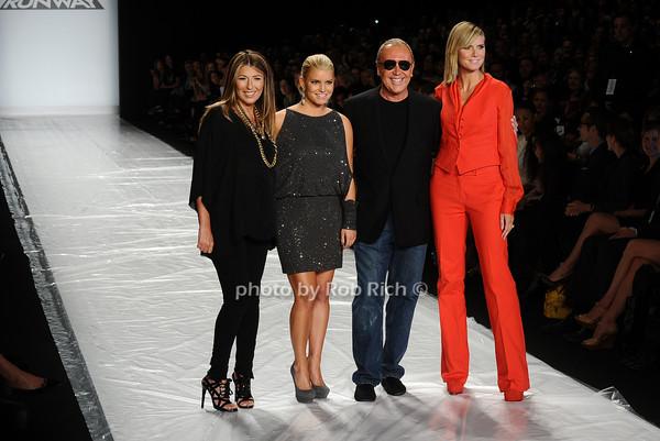 Nina Garcia, Jessica Simpson, Michael Kors, Heidi Klum photo by Rob Rich © 2010 robwayne1@aol.com 516-676-3939