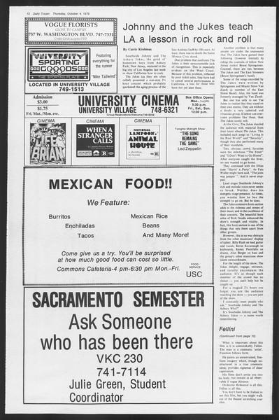 Daily Trojan, Vol. 87, No. 14, October 04, 1979