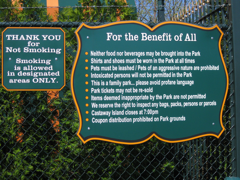 Park rules.