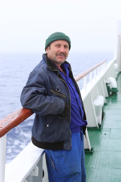 Antarctica - Jan 2013 - Sergey Vavilov Circle Trip, The One Ocean Expedition staff:  one of the Vavilov's Russian crew.
