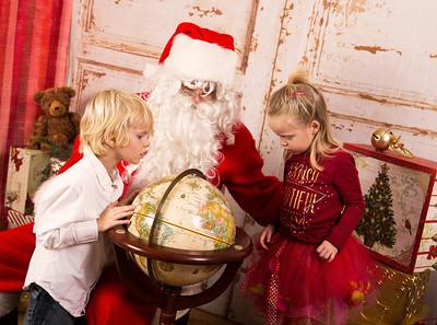 photos séance avec le Pere-Noel