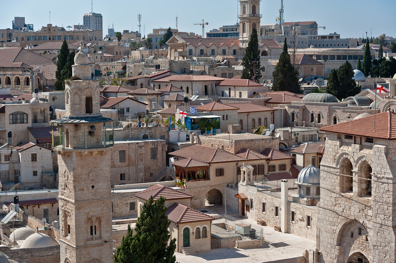 View of Old Town Jerusalem from Lutheran Church of the Redeemer