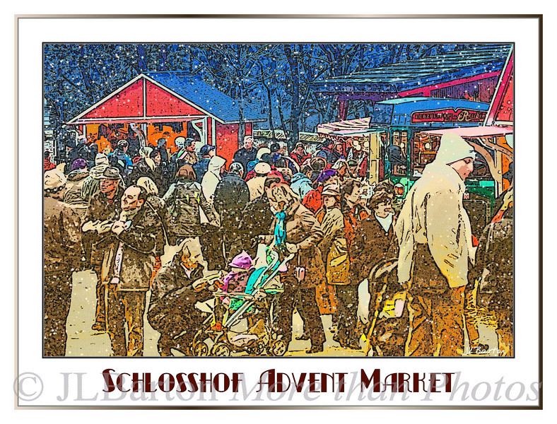 Shopping at an advent market outside Vienna