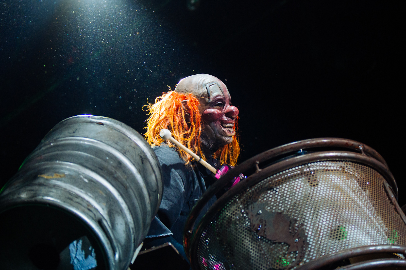 Shawn Crahan of Slipknot by Adam Elmakias at Knotfest 2015