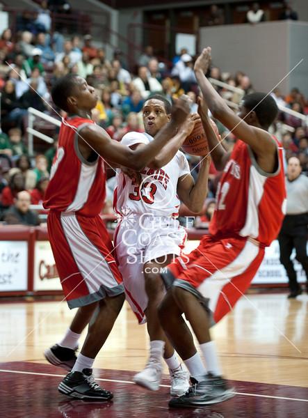 2010-03-05 Basketball Var Boys UIL Rgn 3 Semis, Bellaire vs Travis